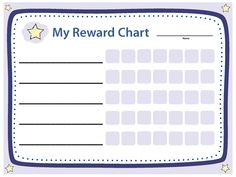 Sticker charts or similar reward programs can help change your child's behavior. Create your own reward chart.  Essentials for Parenting | CDC