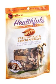 Ruffin It Sweet Potato And Chicken Wraps Dog Treat *** Continue to the product at the image link.