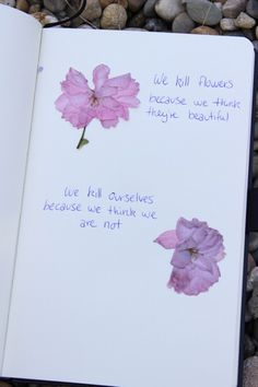 A life flower quote.