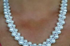 Free pattern for necklace Calla