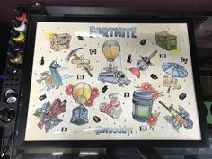 """CA tattoo artist here. Did a Fortnite flash set after I was told to """"paint what I know"""" : FortNiteBR"""