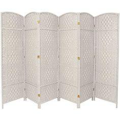 "Bay Isle Home Tiplant 71"" Tall Diamond Weave Fiber 6 Panel Room Divider & Reviews | Wayfair"