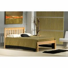 The Birlea Denver is a Shaker style wooden bed frame, it features Chunky rails look great and are complimented by the low foot end. Wooden King Size Bed, White Wooden Bed, Wooden Bed Frames, Wooden Beds, Condo Bedroom, Oak Bedroom, Bedroom Ideas, Pine Beds