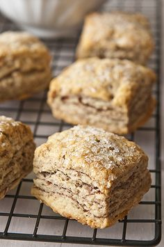 Flaky Biscuits with a Million Layers of Cinnamon (uses why or buttermilk)  freezes well