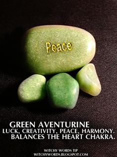 Witchy Words Tip: Green Aventurine #wicca
