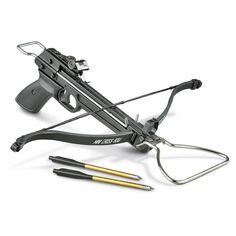 80-lb. Pistol Crossbow • Includes 3 aluminum bolts                              …