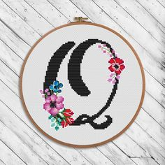 Black floral alphabet O - cross stitch pattern. If you want another letter or symbol, tell me about it. Floss: DMC Size of design in crosses: 67 x I recommend using canvas color - White. Canvas: Aida Design Area: x inch or x сm. Cross Stitch Letter Patterns, Monogram Cross Stitch, Cross Stitch Alphabet, Cross Stitch Designs, Stitch Patterns, Cross Stitch For Kids, Cross Stitch Animals, Blackwork Embroidery, Easy Crochet Patterns