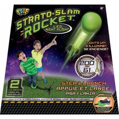 #PoofToys Strato Slam Rocket- Lights up at night. Great for #Summer nights!