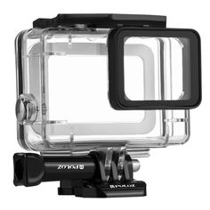 AOLVO Waterproof Protective Housing Case Red Filter for Go Pro Hero 2018 Hero7 White//Silver,Waterproof Underwater Diving Protective Housing Shell Filter for Go Pro Hero 2018 Action Camera