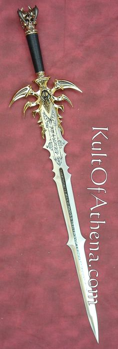 Kit Rae Vorthelok Sword Gold Edition. The latest in the Swords of the Ancients collection, this serial numbered 24K-gold-plated edition is strictly limited to 300 pieces worldwide! Vorthelok features a stainless steel blade (false edged), engraved runes,