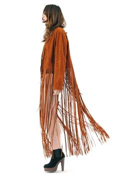 1970's Vintage Wanderer Maxi Fringe Jacket  All us hippie types wore this color suede skirts etc. & lots had this same fringe!