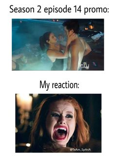Veronica and Jughead kiss reaction. @TeAm_SpAriA #Riverdale #Meme