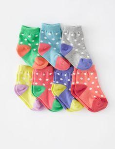 Mini Boden 7 Pack Sock Box $28
