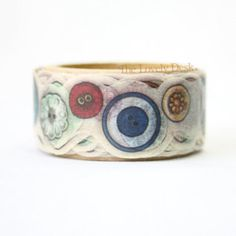 Yano Design Buttons Sewing Washi Tape (Die Cut) Masking Tape Japan - Embroidery Needlework Tool Box Craft Clothes Japanese