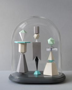 Jar of Geometric Shapes: Perfect Papercraft from Present & Correct Inspire Me Home Decor, The Bell Jar, Bell Jars, Glass Domes, Geometric Shapes, Paper Cutting, Arts And Crafts, Design Inspiration, Illustration
