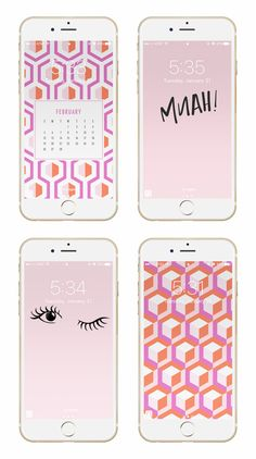 May Designs Blog - FEBRUARY GEOMETRIC VALENTINES PHONE + DESKTOP WALLPAPER DOWNLOADS