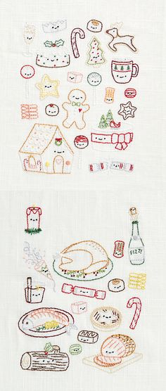 Christmas kawaii embroidery patterns | Mollie Makes 60