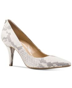 MICHAEL Michael Kors MK Flex Mid Pointed-Toe Pumps $77.00 MICHAEL Michael Kors' MK Flex pumps are fashioned with a buffed, python-embossed leather in subtle tones paired with a striking, pointed toe.