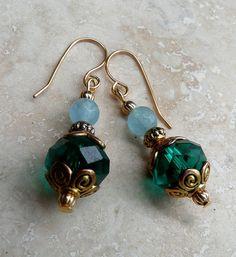 Genuine Emerald Swarovski Ab Crystals Natural by IslandGirl77, $18.99