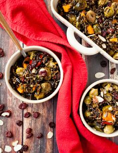 This dish packs so much flavor. It's perfect warm, room temp, or chilled. I love stuffing it into squashes or over a pile of greens but it's so wonderful as is too. Wild Rice Salad, Freshly Squeezed Orange Juice, Squashes, Dried Cranberries, Roasted Vegetables, Vegan Dinners, Butternut Squash, Sweet Potato, Side Dishes
