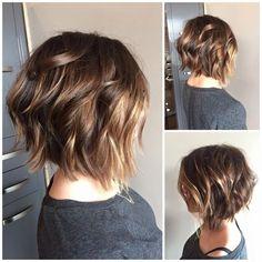 Cute Back View of Short Haircuts – - hair lengths Ombre Hair, Balayage Hair, Short Balayage, Medium Hair Styles, Curly Hair Styles, Short Hair Cuts For Women, Great Hair, Hair Day, Fine Hair