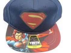 Superman Man of Steel Red Youth Childrens Size Snapback Hat  #Bioworld #BaseballCap  #Superman Man of Steel