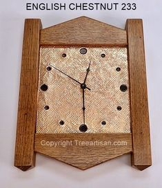 Wall Clock Craftsman Mission Stickley Inspired Quarter Sawn Oak Copper 26 colors #TheTreeArtisan #ArtsCraftsMissionStyle