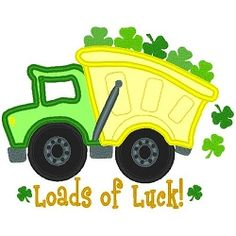 Loads of Luck Applique - 3 Sizes! | Transportation | Machine Embroidery Designs | SWAKembroidery.com