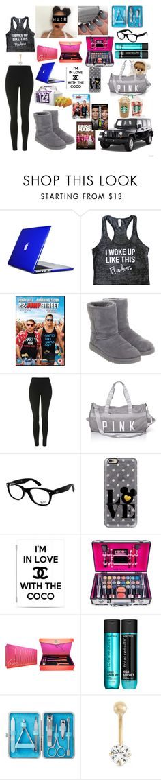 """""""Heading To Bestfrandd House"""" by kelvionne ❤ liked on Polyvore featuring Speck, UGG, Topshop, Ray-Ban, Casetify, Shany, Matrix, Wrangler, Gioelli and Boob"""