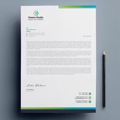 Company Letterhead Template, Invoice Template, Templates, Corporate Design, Business Card Design, Creative Business, Business Cards, Business Letter, Letterhead Design Inspiration
