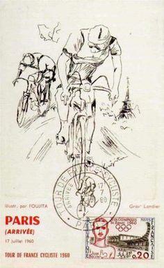 Tour de France 1960, Postcard for Paris Arrivee