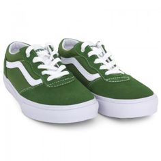 Vans Boys Green Suede & Canvas Milton Trainers | AlexandAlexa