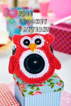 Download the free pattern for this crocheted lens buddy by Christine Harvey from our website