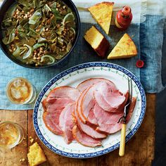 Black-Eyed Pea Recipes: Good Luck Greens and Peas with Ham