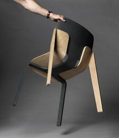 Details we like / Chair / Connection / Black and Oak / Wood / Furniture Design / at inspiration