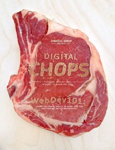 Designer Prints Words On Meat To Create Poster, Shows We Can Advertise On Meat