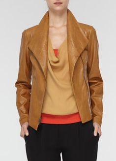 Leather scuba jacket.