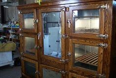 Another photo of the vintage 8 door McCray Refrigerator