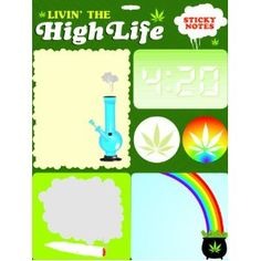 Livin' the High Life Sticky Notes (Stationery) (Paperback)