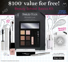 The Beauty Pirate: Free Beauty School Kit from e.l.f.! $100 value!!!