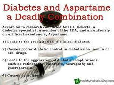 Diabetes and Aspartame --  Did you know about this? What do you think? Please SHARE this to your loved ones for them to be aware