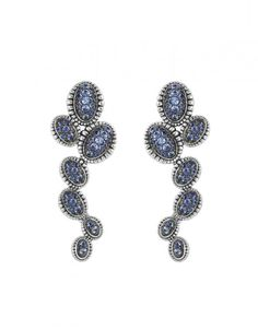 Blue Sapphire Cluster Drop Earrings   Muse   LAGOS Jewelry