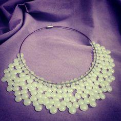 Collana di colla a caldo Hotglue necklace