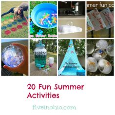 20 Fun Summer Activities - Five in Ohio