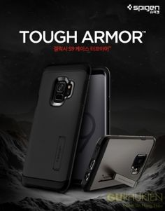 Spigen Tough Armor Dual Slim Hard KickStand Cover For Galaxy Plus Case Galaxy 9, Samsung Galaxy S9, Used Iphone, New Phones, Cell Phone Cases, Cover, Slim, Electronics, Image