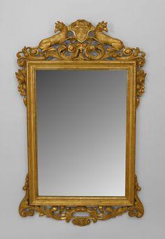 Italian Neo-classic mirror wall mirror gilt