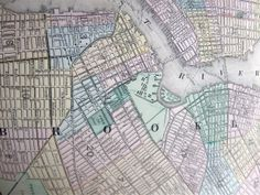 Scissors and Spice: Vintage Maps: New York and Brooklyn