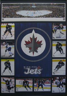 Winnipeg Jets Collage - Custom designed In: Custom Framing - Custom Framing Examples Jets, Custom Framing, Picture Frames, Fountain, Custom Design, Collage, Pictures, Portrait Frames, Bespoke Design