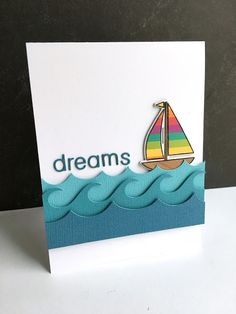 I dream of the sea! Card by Lisa Addesa.