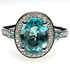 engagement ring, blue zircon - Google Search